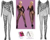 Obsessive Lingerie [ UK 6 - 12 ] Black F210 'Spicy' Bodystocking (E24031)